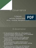 E Governance by Manjula