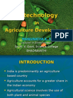 Biotechnology in Agriculture Development by KS Manjunath