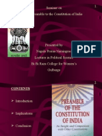 Preamble to the Constitution of India by Prema Nagale