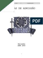 Normas de Admissão 2009_2010