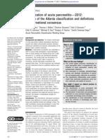 nova classificaçao de pancreatite 2012