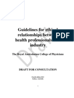 RACP Relations With Industry Guidelines for Consultation 2013