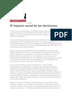 El Impacto Social de Las Decisiones