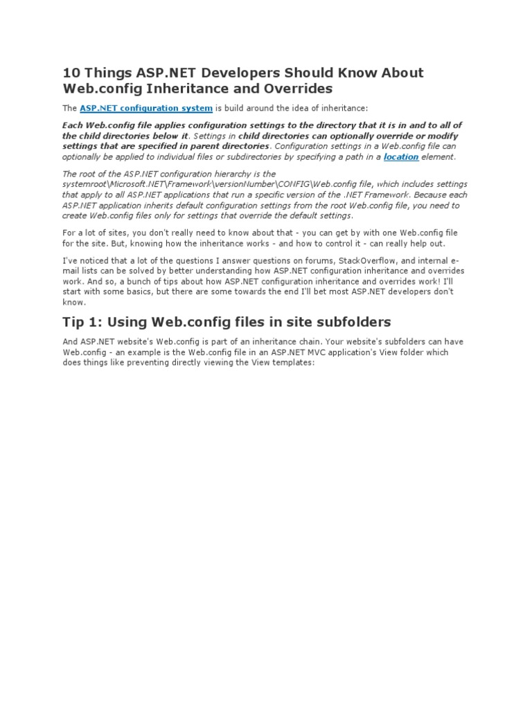 10 Things Asp Directory Computing Internet