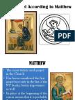 The Gospel of Matthew[1]