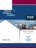 Increasing the Availability of Affordable Homes - A 2007 Center for Housing Policy Report