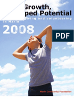 Solid Growth, Untapped Potential- Report on Giving and Volunteering in Marin 2008