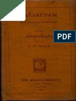 Dasarupam of Dhananjaya - F E Hall