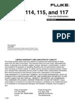 Fluke 117 Manual