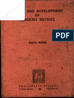 Origin and Development of Sanskrit Metrics - Arati Mitra