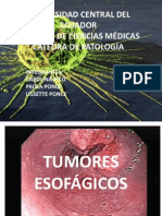 TUMORES ESOFÁGICOS PATOLOGIA