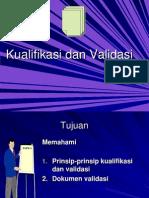 CPOB - Kualifikasi Dan Validasi
