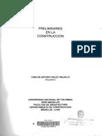 Preliminares en la construcción