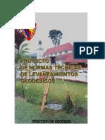 Normas Tecnicas de Levantamientos Geodesicos.