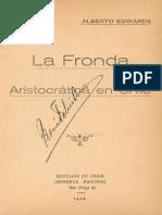 A Edwards - La Fronda Aristocrática en Chile