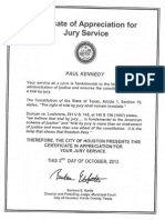 Certificate of Jury Service