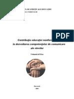 Contributia Educatiei Non-Formale La Dezvoltarea Competentelor de Comunicare Ale Elevilor