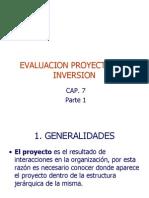 Cap 7 Evaluacion de Proyectos 1