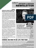 14942640 Whitburn and Marsden Newsletter Spring 2009