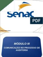 Auditoria SGI - SENAC Módulo 3 (Comunicação na auditoria)