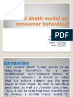 Howard Sheth Model on Consumer Behaviour