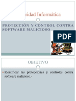 II.1) Seguridad Informatica. Protección y control contra software malicioso