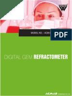 Digital Gem Refractometer