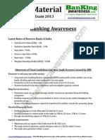 General Awareness IBPS PO Clerk Exam 2013 Www.bankingawareness