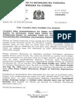 Taarifa Kwa Umma Mizani Ya Barabarani