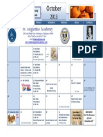 SAA 2013 October Calendar