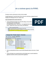 SAP Steps to create a custom query in POWL