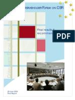 CSR Forum Final Report