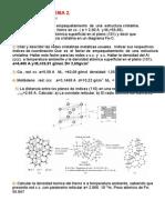 Problemas de Estructura Cristalina (Tema 2)