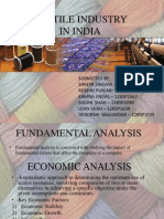 FSA textile industry analysis