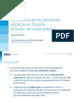 BBVA Reseach. R. DOMENECH (1 oct. 2013) Presentación s. la REFORMA de las PENSIONES