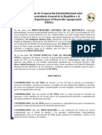 Convenio de Cooperación Interinstitucional entre la Procuraduría General de la República y el Fondo Especial para el Desarrollo Agropecuario (FEDA)