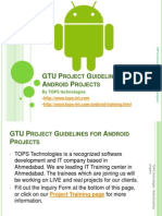 GTU Guidelines for Project on Android