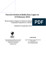 Badia East 2013 Forced Eviction - NHRC Memorandum in Support of Petition