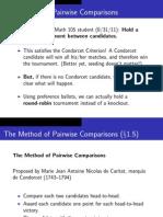 Method of Pairwise Comparison