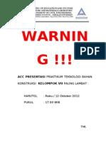 Warning ACC Presentasi