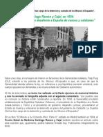 Santiago Ramón y Cajal - No me explico este desafecto a España de vascos y catalanesen 1934