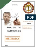 Protocolo de Investigación. Unidad 2