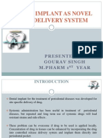 Dental Implant as Novel Drug Delivery System Ppt