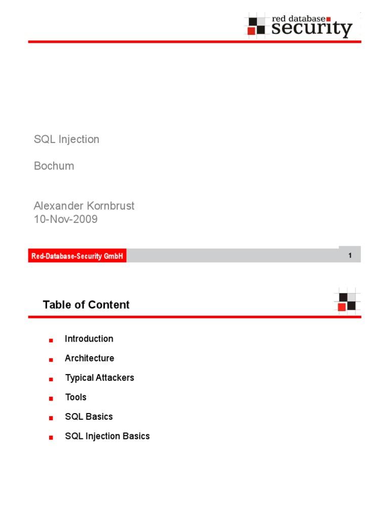 Hackpra09 Kornburst Advanced SQL Injection | Sql | Oracle Database