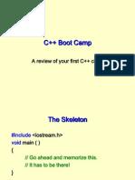 C++ boot camp