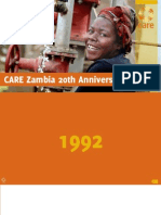 Care Zambia 20th Anniversary Book