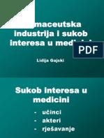 Gajski Farmaceutska sukob interesa