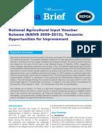 National Agricultural Input Voucher Scheme (NAIVS 2009–2012), Tanzania
