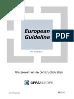 CFPA E Guideline Fire prevention on construcion sites