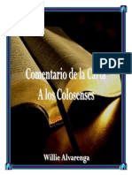 Comentario de Colosenses Por Willie Alvarenga